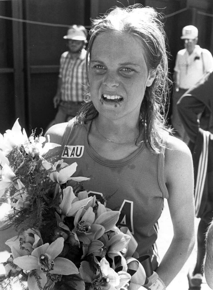 Gail Volk of Seattle was the first female to finish.