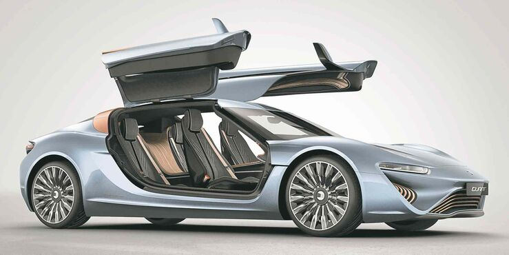 The Quant is essentially an electric car, but instead of a rechargeable battery, it uses two refillable tanks of what is salty water.