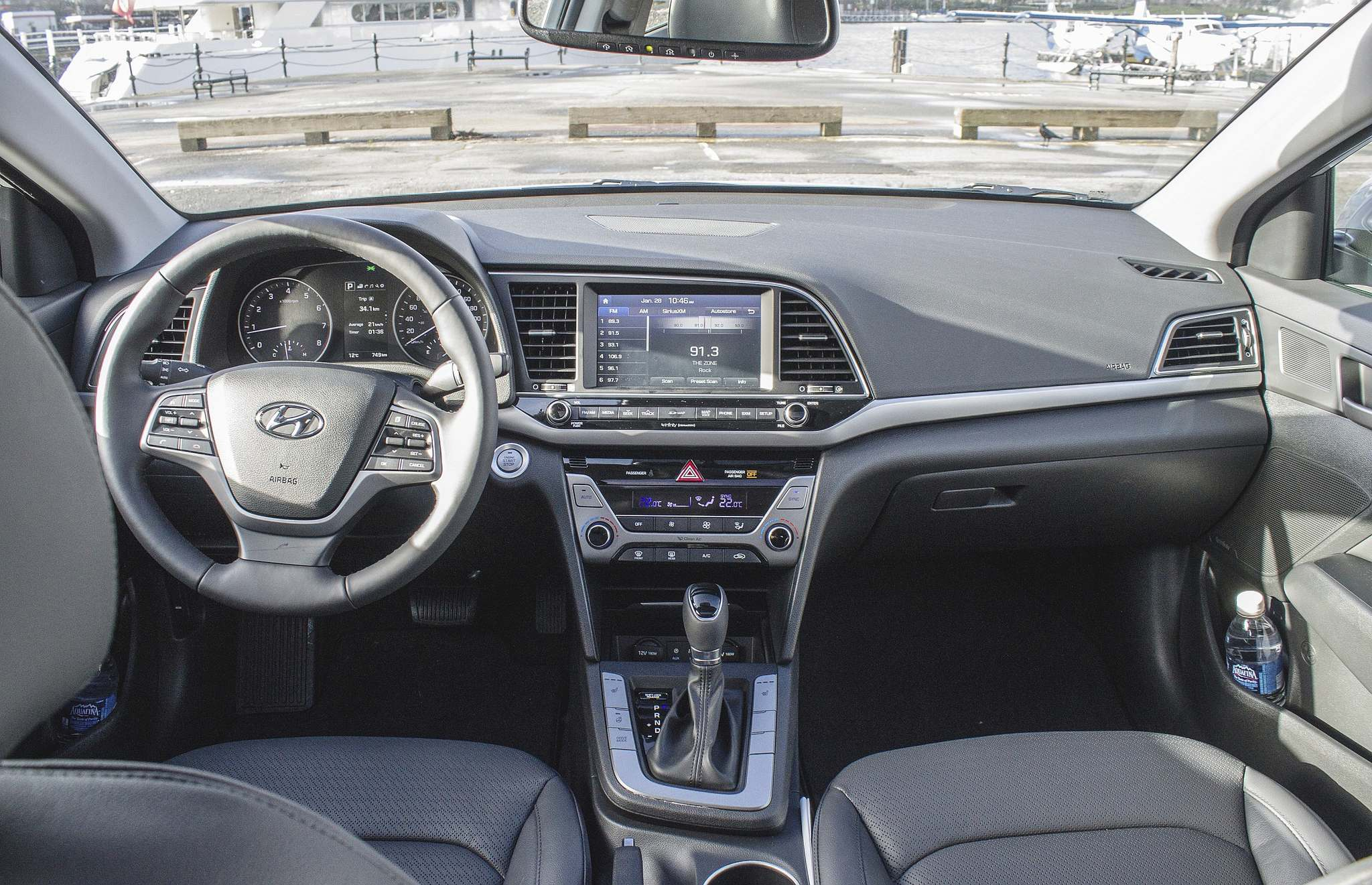 Brendan McAleer / Postmedia Network Inc.The Elantra is available with options such as leather seats and an easy to operate navigation system.