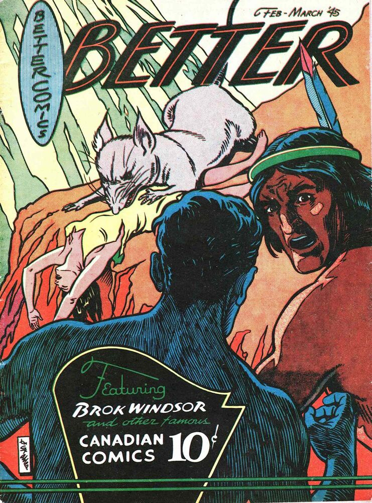 Brok Windsor in Better Comics, seen here with Torgon, an aboriginal character who is also a giant from a futuristic society in the hidden world of Tarqua. (Courtesy of Hope Nicholson)