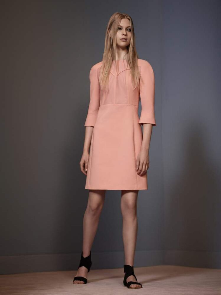 In this photo provided by Victoria, by Victoria Beckham, the Victoria Spring 2014 collection is modelled during Fashion Week, Monday, Sept. 9 in New York.