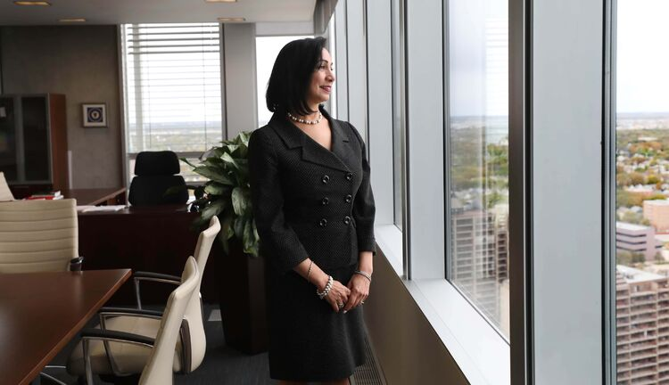 RUTH BONNEVILLE  /  WINNIPEG FREE PRESS   Local - Mb Hydro CEO Grewal   Portraits and candid interview photos of Jay Grewal, Manitoba Hydro's first female president and CEO, in her office at Mb. Hydro Thursday.  See Larry Kusch profile story.   Sept 26, 2019