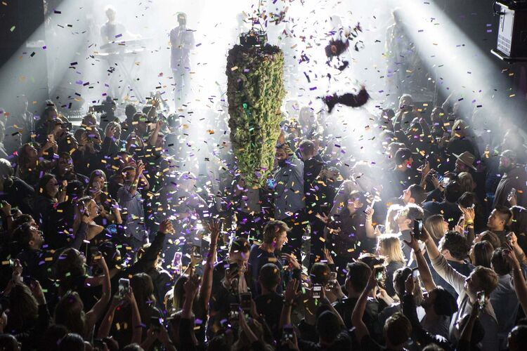 A year ago Canadians were in a partying mood as cannabis was legalized in the country on Oct. 17, 2018. (Chris Young / The Canadian Press files)</p>