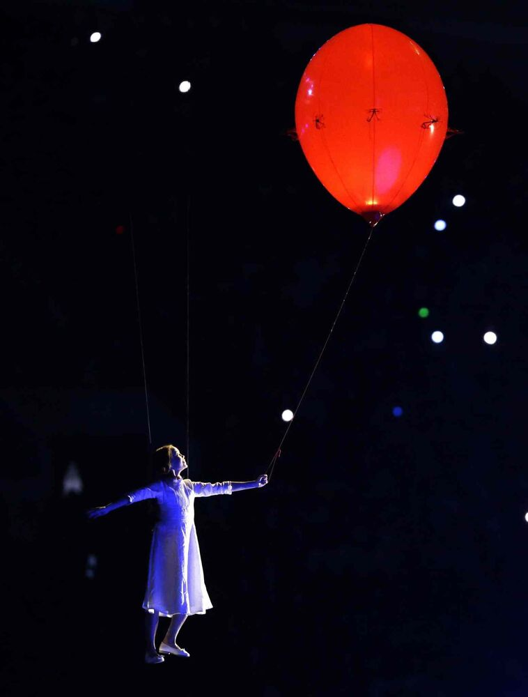 An artist performs during the opening ceremony of the 2014 Winter Olympics in Sochi, Russia, Friday, Feb. 7, 2014. (AP Photo/Patrick Semansky)