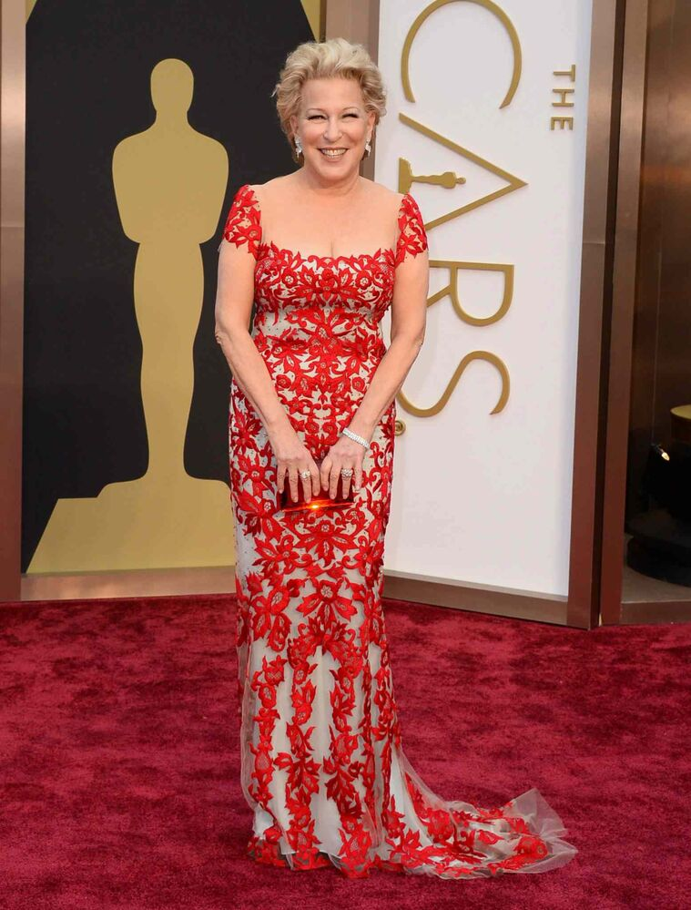 Bette Midler arrives at the Oscars.