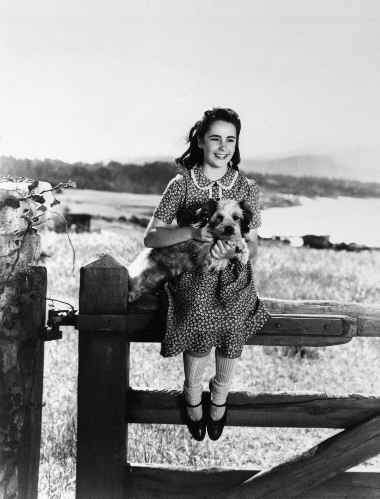In a 1944 file photo, young actress Elizabeth Taylor is seen during the time that she was filming