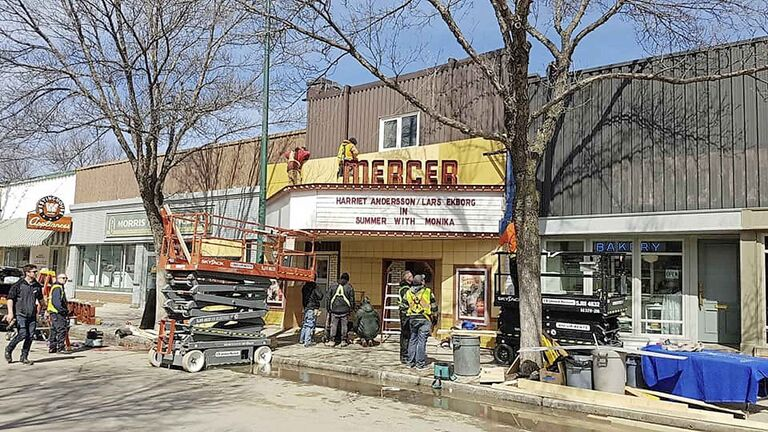 Amazon Prime TV production transformed Morden's downtown into 1950s Ohio, for the shooting of the art book-based series, Tales from the Loop.