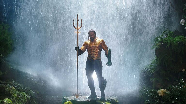 Aquaman is unrestrained and campy, registering as a high contrast to the doom-and-gloom esthetic of most DC movies. (DC)