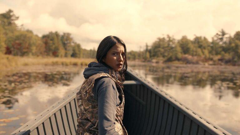 Suzanne (Tanaya Beatty) in Through Black Spruce</p>