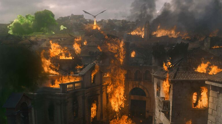 Jon Snow could not believe the devestation Daenerys inflicted on King's Landing. (HBO)