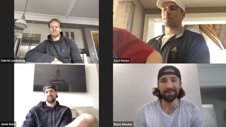NHL  NHL Stars on Pause (Central Division): Video Conference Call with Jamie Benn (DAL), Gabriel Landeskog (COL), Zach Parise (MIN) and Blake Wheeler (WPG)  Winnipeg Free Press 2020
