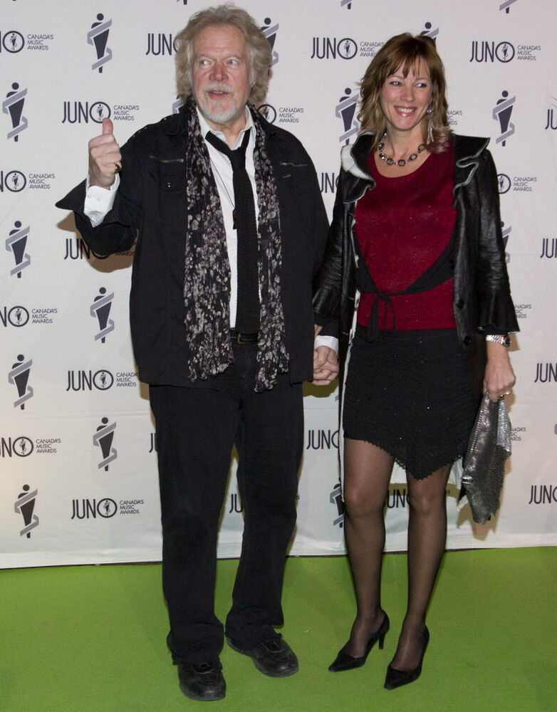 Randy Bachman arrives on the green carpet for the Juno Gala.