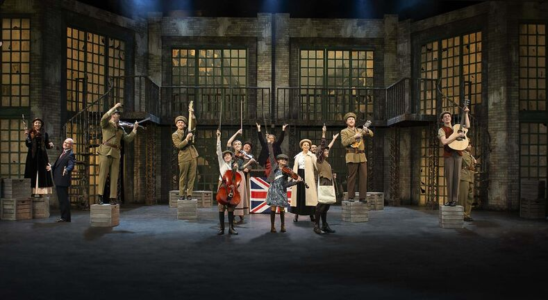 Rainbow Stage's production of Strike! is a big production, with a lavish set design. (Robert Tinker / The Canadian Press)