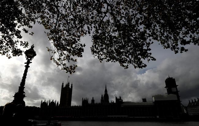 A grey sky over Britain's Parliament buildings in London, Friday, Oct. 18, 2019. Britain's Parliament is set to vote Saturday on Prime Minister Boris Johnson's new deal with the European Union, a decisive moment in the prolonged bid to end the Brexit stalemate. Experts warn the British Parliament's weekend Brexit vote will leave Canadian business uncertain about how to manage billions of dollars worth of trade and investments after the United Kingdom exits the European Union. THE CANADIAN PRESS/AP/Kirsty Wigglesworth