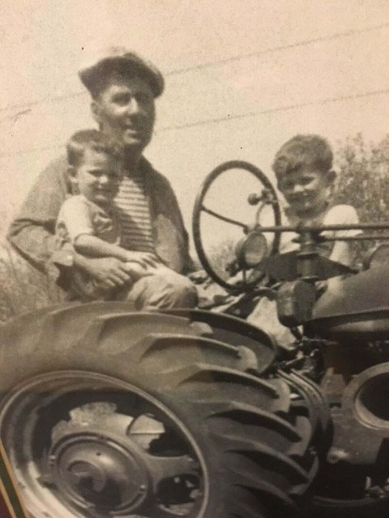 Brian Pallister (right) in 1960 with his father Bill and brother Jim. (Supplied photo)