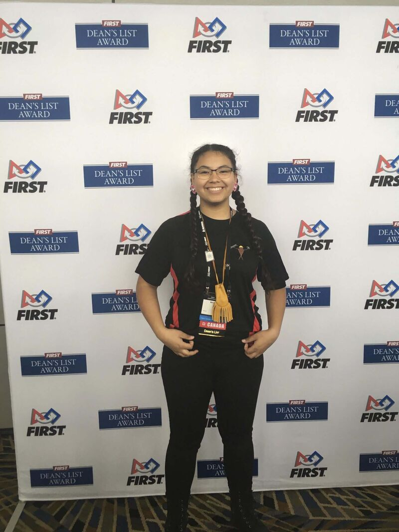 Co-captain of Team 5672, Mary Pangowish, 17, wants to be an electrical engineer. (Supplied)