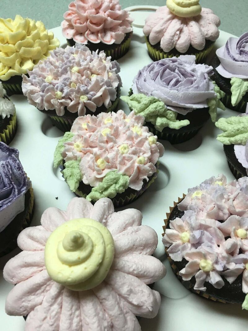 Julie Savard's cupcakes are little works of art.</p>