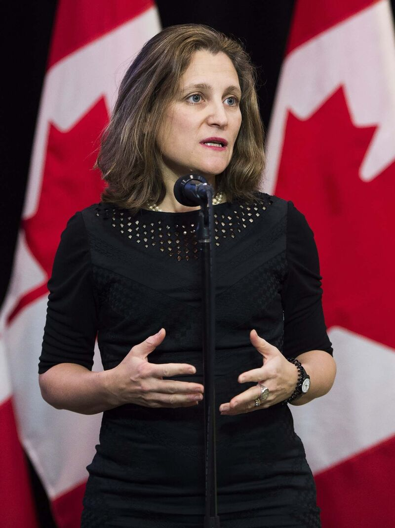 Nathan Denette / THE CANADIAN PRESS FILES</p><p>Foreign Affairs Minister Chrystia Freeland</p>