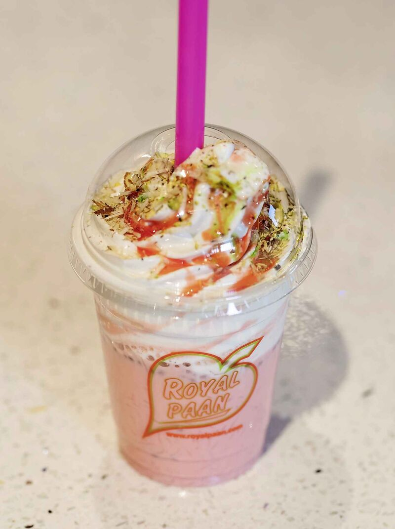 Royal Falooda is a popular treat.