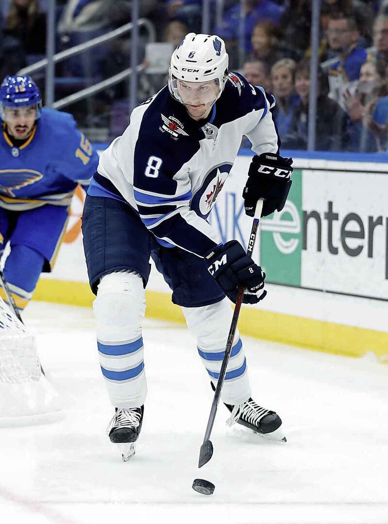 Jets defenceman Jacob Trouba was traded to the New York Rangers Monday.