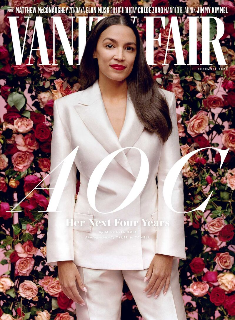 Democratic Rep. Alexandria Ocasio-Cortez of New York appeared on the December 2020 cover of Vanity Fair looking both confident and glamorous, but social media commentators pounced on the fact she, a self-described democratic socialist, had posed in $14,000 worth of clothing between the cover and the inside spread.