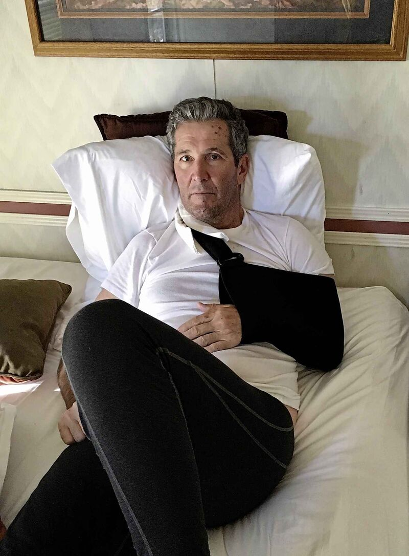 Manitoba Premier Brian Pallister recovering in a hotel in New Mexico after being injured while hiking in the Gila Wilderness in New Mexico in 2017.