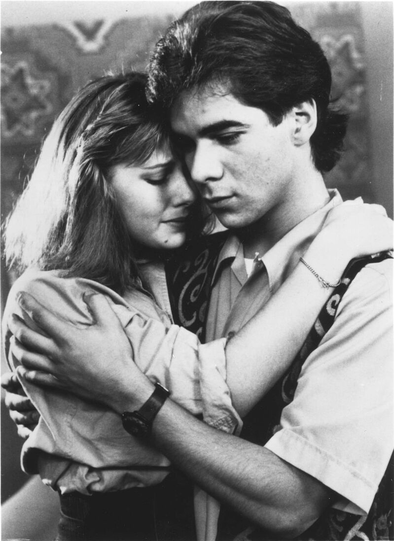 Winnipeg Free Press files</p><p>Joey (Pat Mastroianni) comforts Caitlin (Stacie Mistysyn) following the suicide of a fellow student in a special one-hour episode that aired in 1991.