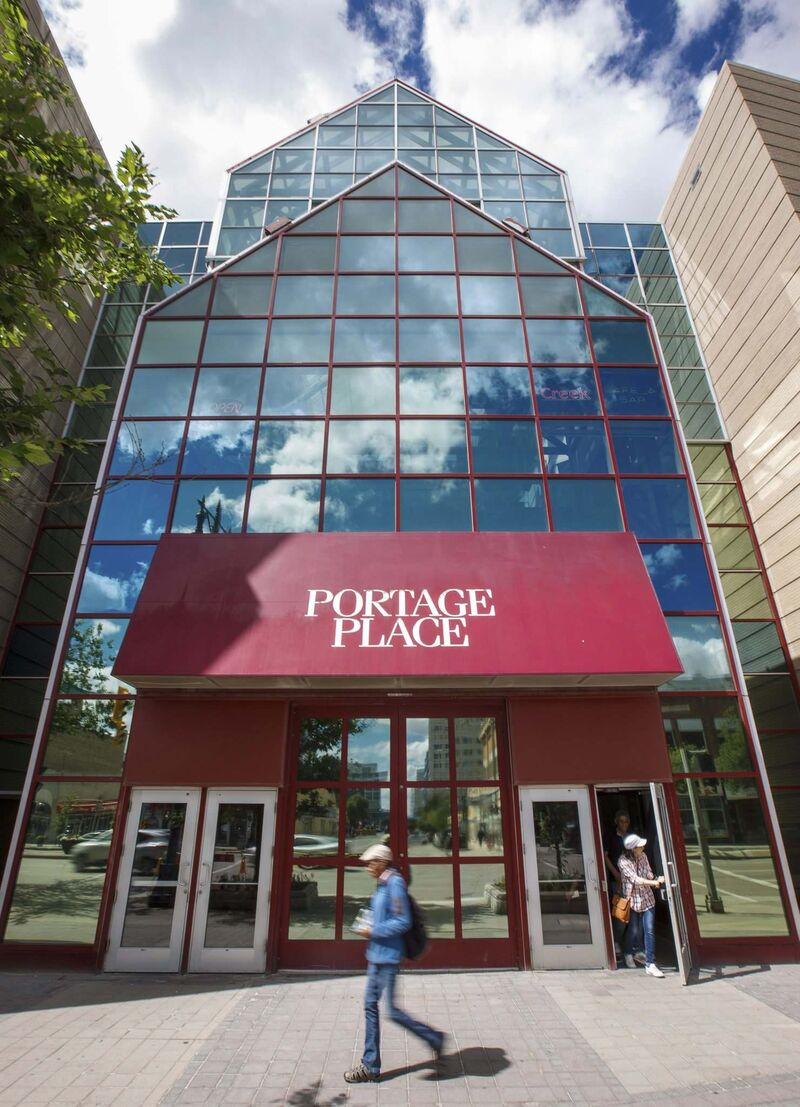 MIKE DEAL / WINNIPEG FREE PRESS FILES</p><p>The front doors to Portage Place Shopping Centre. </p>