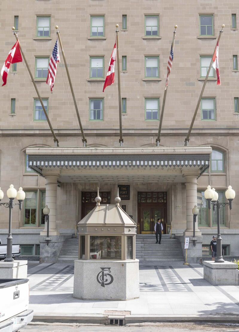 Since 1999, the oval-shaped bellhut, made of metal and glass and measuring a mere 1.5 metres wide and a little over three metres across, has served as the year-round headquarters for the Fort Garry Hotel's crew of combination bellhop/valets.