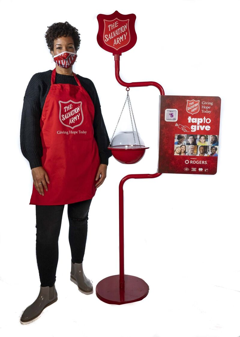 It wasn't safe to have volunteers stand with the kettle bells this year. (Supplied)