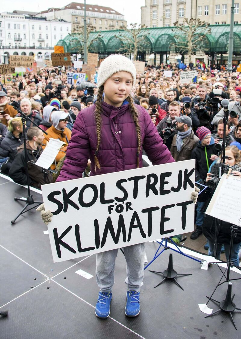 Swedish climate activist Greta Thunberg inspired thousands of students to take to the streets all over the globe. (Daniel Reinhardt / DPA files)