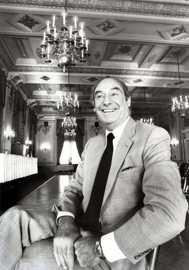 Jack Perrin in 1981, when he owned the hotel. (Jim Wiley / Winnipeg Free Press files)</p>