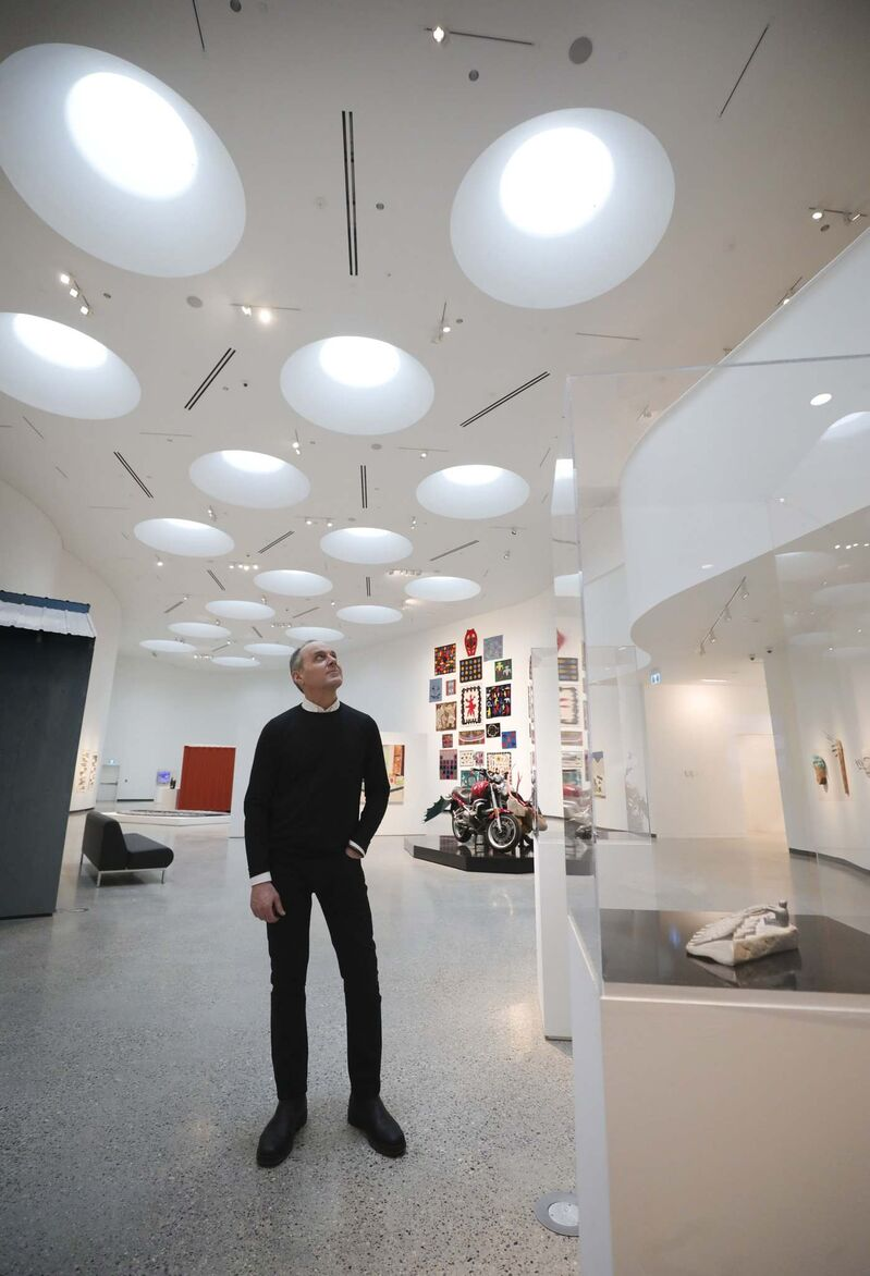"""RUTH BONNEVILLE / WINNIPEG FREE PRESS FILES </p>  Qaumajuq, which means """"it is bright, it is lit,"""" in Inuktitut, is more than a name. Brightness exposes rights and wrongs, says Stephen Borys, the WAG's director and chief executive officer."""