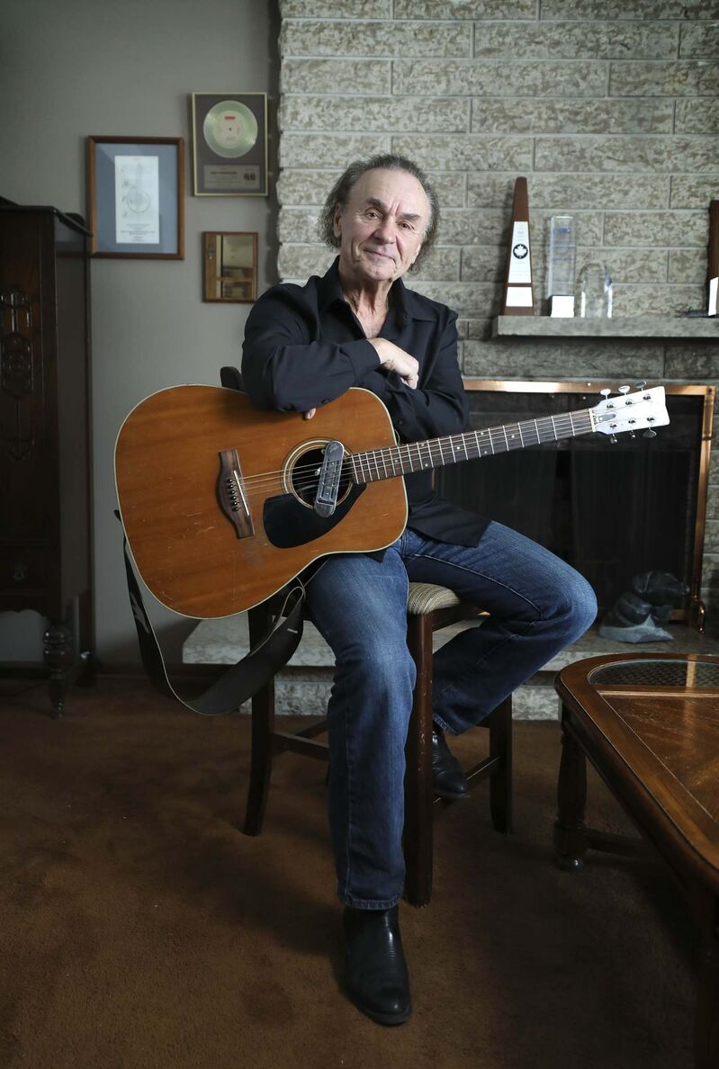Joey Gregorash became the first solo Manitoba act to win a Juno Award in 1972. The singer will perform at the Regent Casino Event Centre on Feb. 6. (Ruth Bonneville / Winnipeg Free Press)