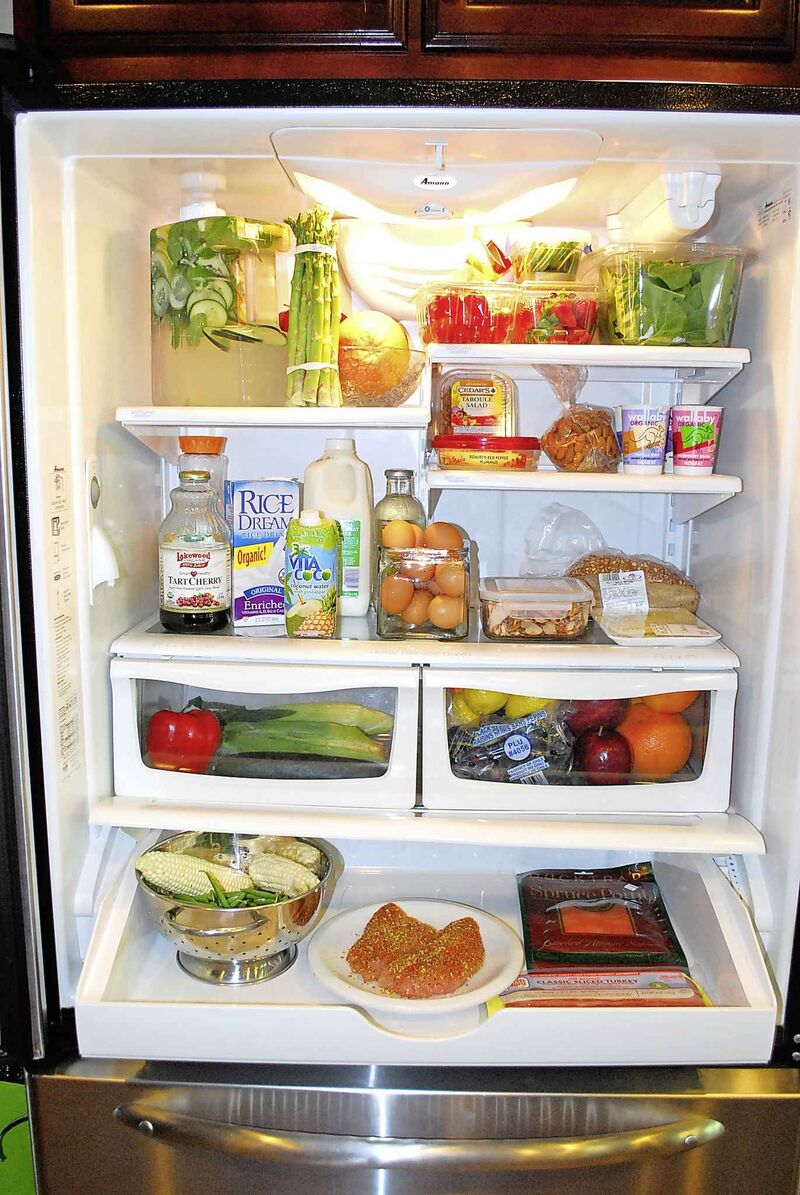 Palumbo Saucier recommends getting into a weekly habit of going through your fridge. (LaTasha Lewis / Detroit Free Press files)