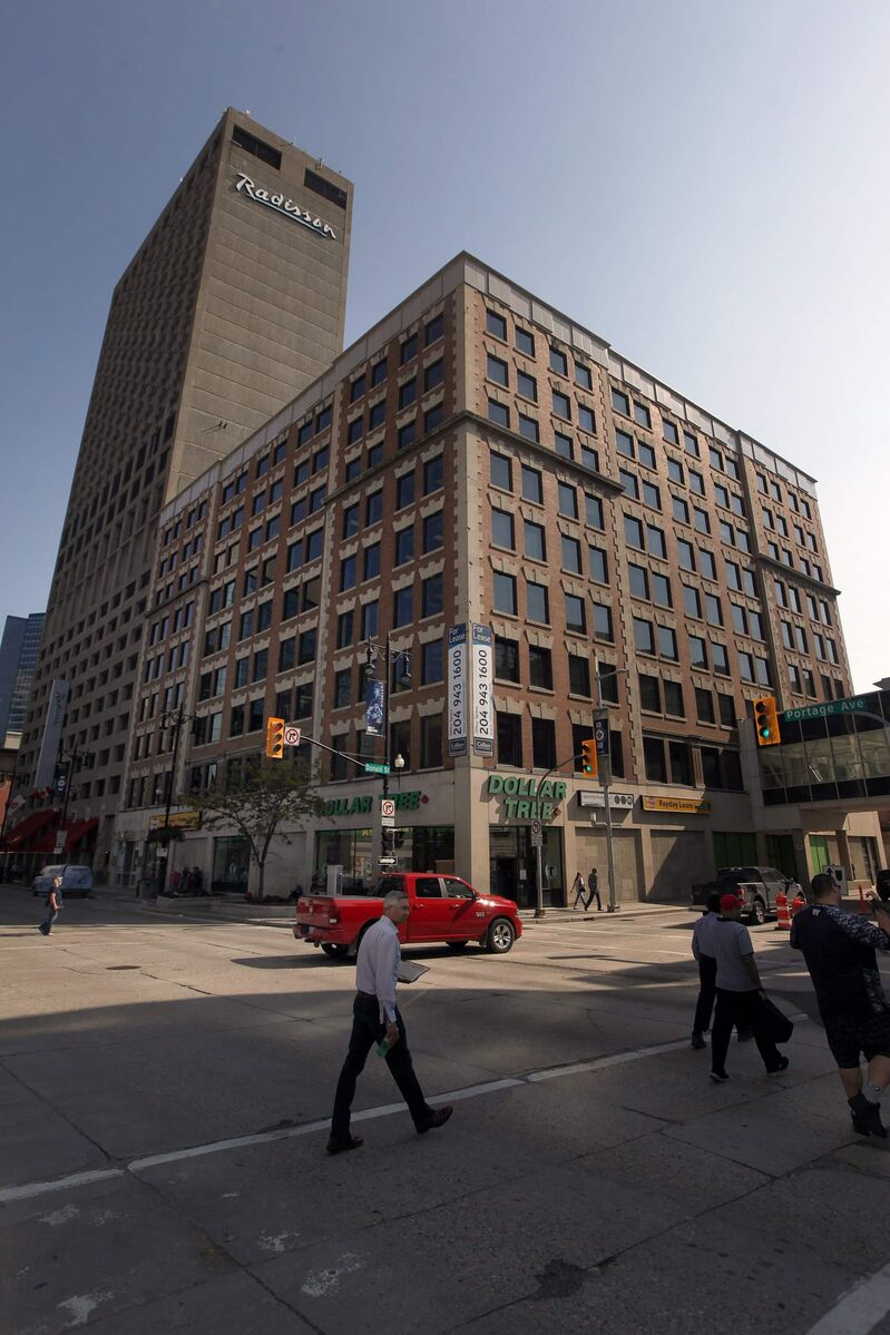 The 113-year-old Somerset Building on Portage is the focus of a hotly-debated heritage designation which, according to the building's owner, would threaten a $150-million development known as Canad Place. Winnipeg's executive policy committee voted to lay over the vote for another month. (Phil Hossack / Winnipeg Free Press files)