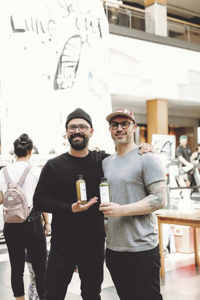 Giorgo Mantas and Rob Bohay are the co-owners of Verde Juice Bar. (Supplied photo)