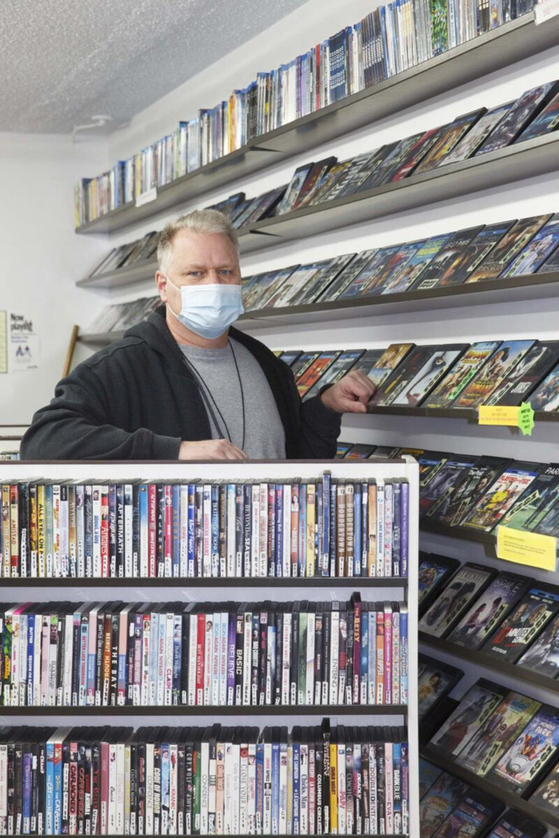 Ken Taylor's family-owned business has been around since the early '70s when it started as Ken's Kar Klinic. Since then, the family has added videos to the mix and closed the service station. (Mike Deal / Winnipeg Free Press)</p>