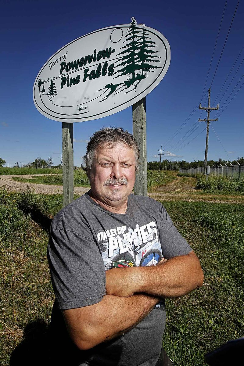 Gary Berthelette and other longtime residents are fighting to turn the community around. (Phil Hossack / Winnipeg Free Press)