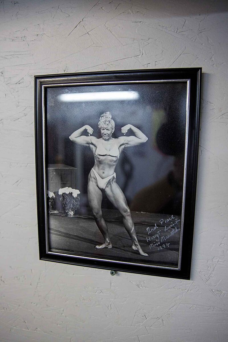 MIKE DEAL / WINNIPEG FREE PRESS</p><p>A photo of Haywood during her brief foray into bodybuilding in the mid-90's.</p>