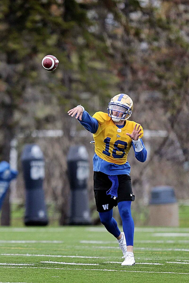Bryan Bennett was the only Bombers quarterback to attend opening day of the rookie camp Wednesday.