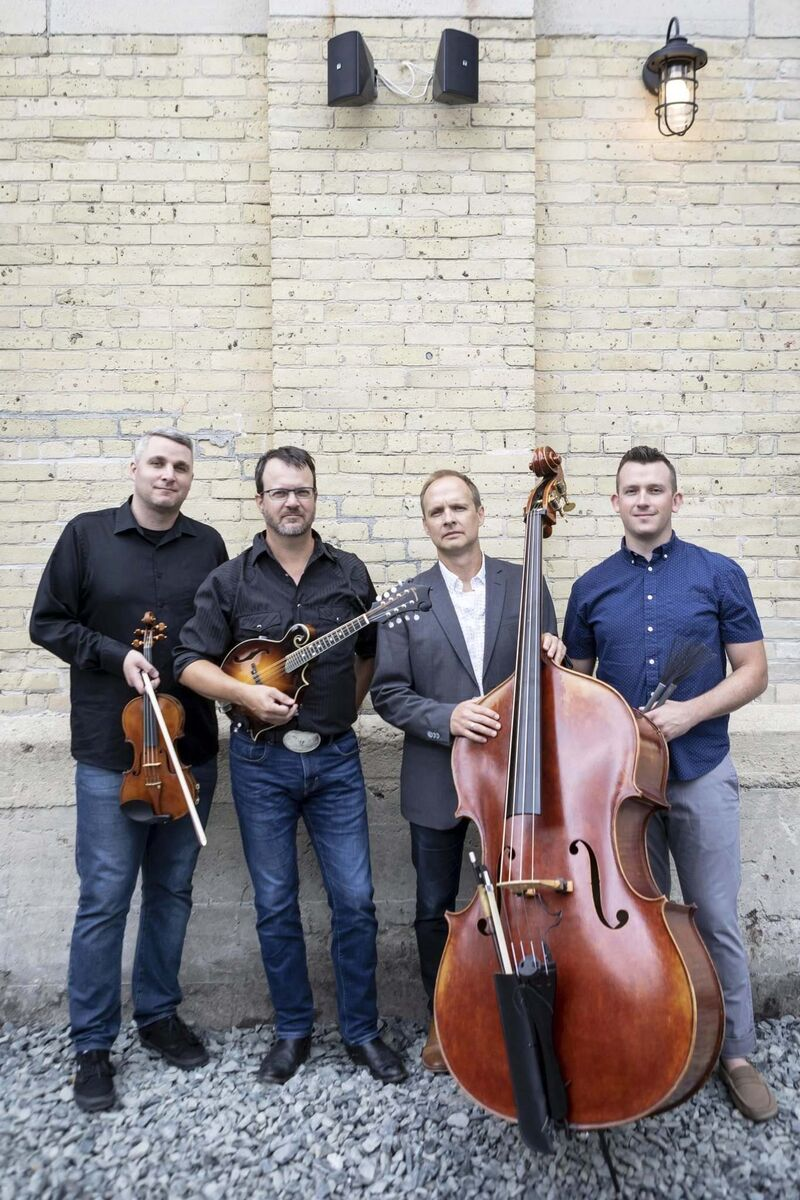 Chris Anstey (from left), Gregory Hay, Meredith Johnson and Mike Kemp are teaming up with the WSO for Bluegrass Symphony. (Matt Duboff photo)