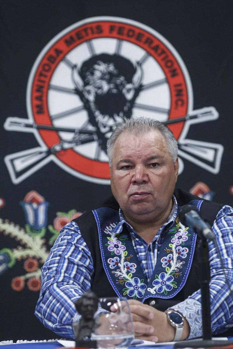 David Chartrand, president of the Manitoba Metis Federation, said he feels as though Canada is taking steps forward on reconciliation, while Manitoba goes in reverse. (Mike Deal / Winnipeg Free Press files)