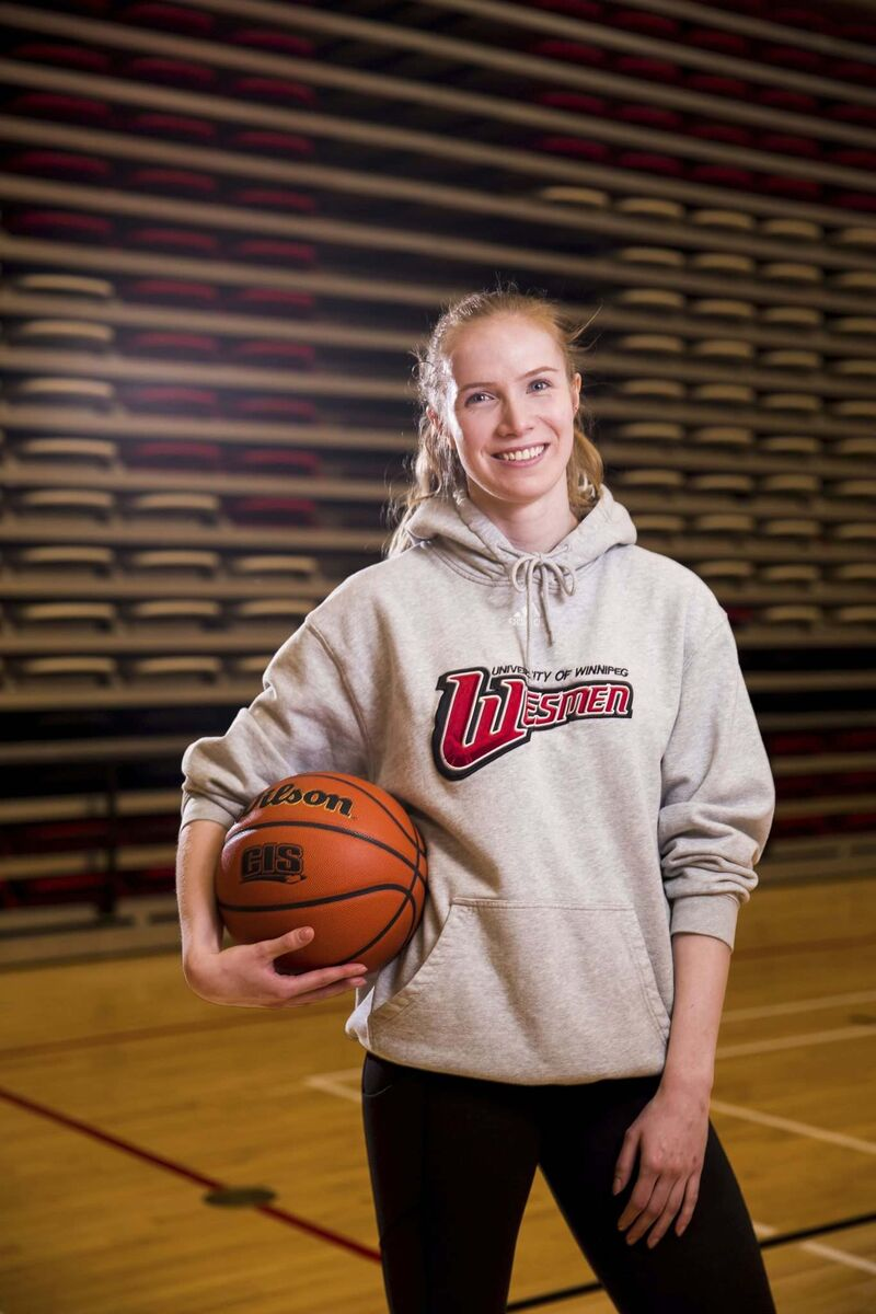 Wesmen basketball player Lena Wenke was put on life-support after the attack. She recovered from the multiple stab wounds, resumed her studies as a psychology major and returned to the basketball court last fall. (Mikaela MacKenzie / Winnipeg Free Press files)</p>
