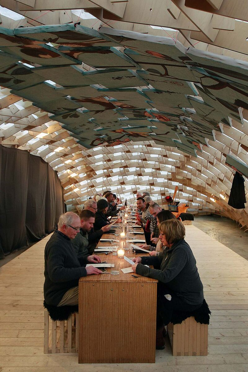 The pop-up restaurant Raw Almond, temporarily built on a frozen river, is one of the hottest tickets in Winnipeg. (Phil Hossack / Free Press files)