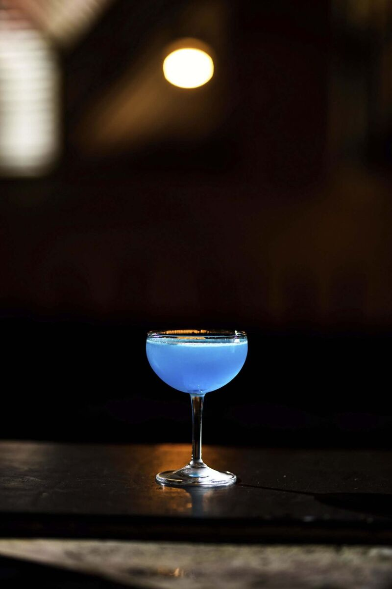 Nicole Cote's Corpse Reviver Number Blue. (Mike Sudoma / Winnipeg Free Press)