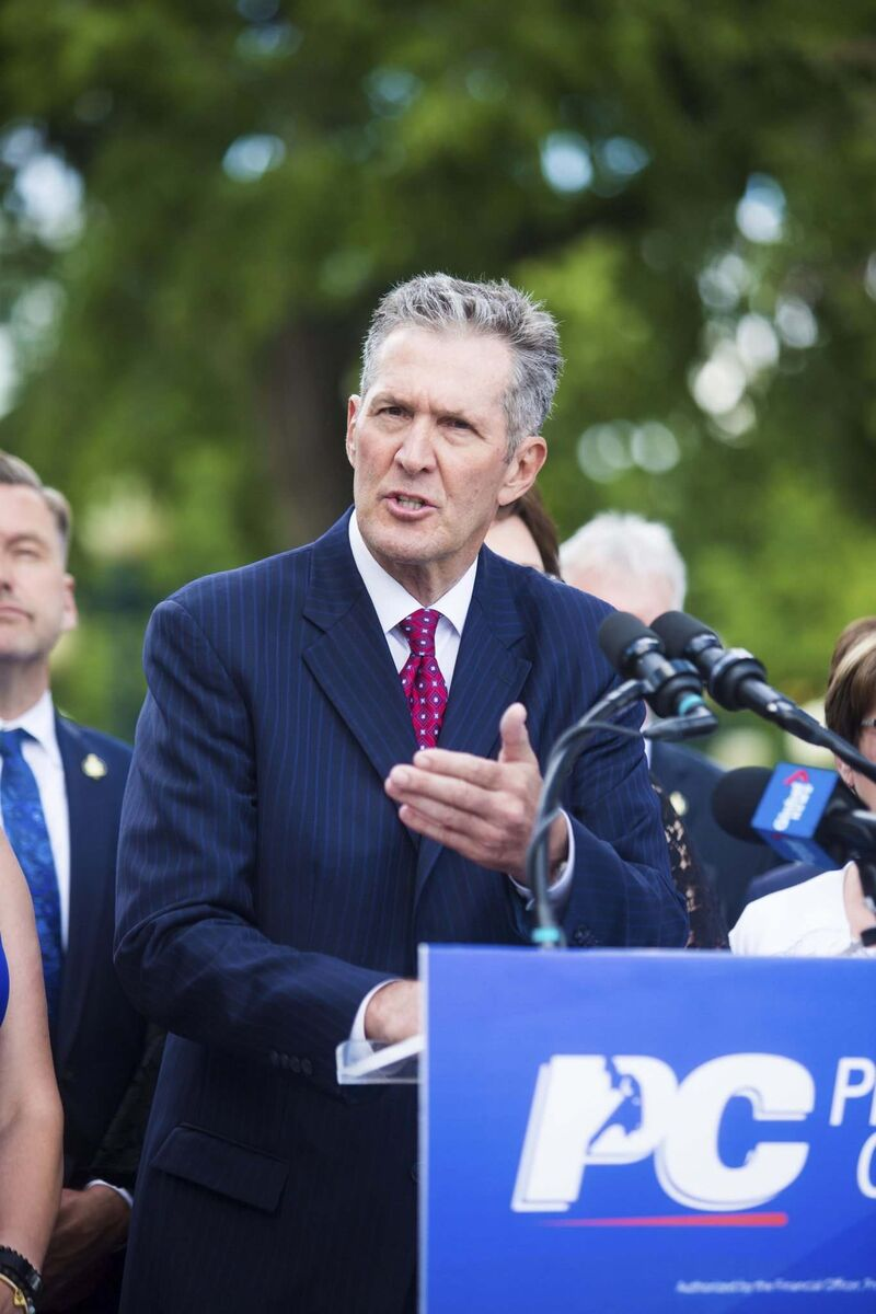 Premier Brian Pallister announces the election will be held on Sept. 10 during a news conference Wednesday. (Mikaela MacKenzie / Winnipeg Free Press files)