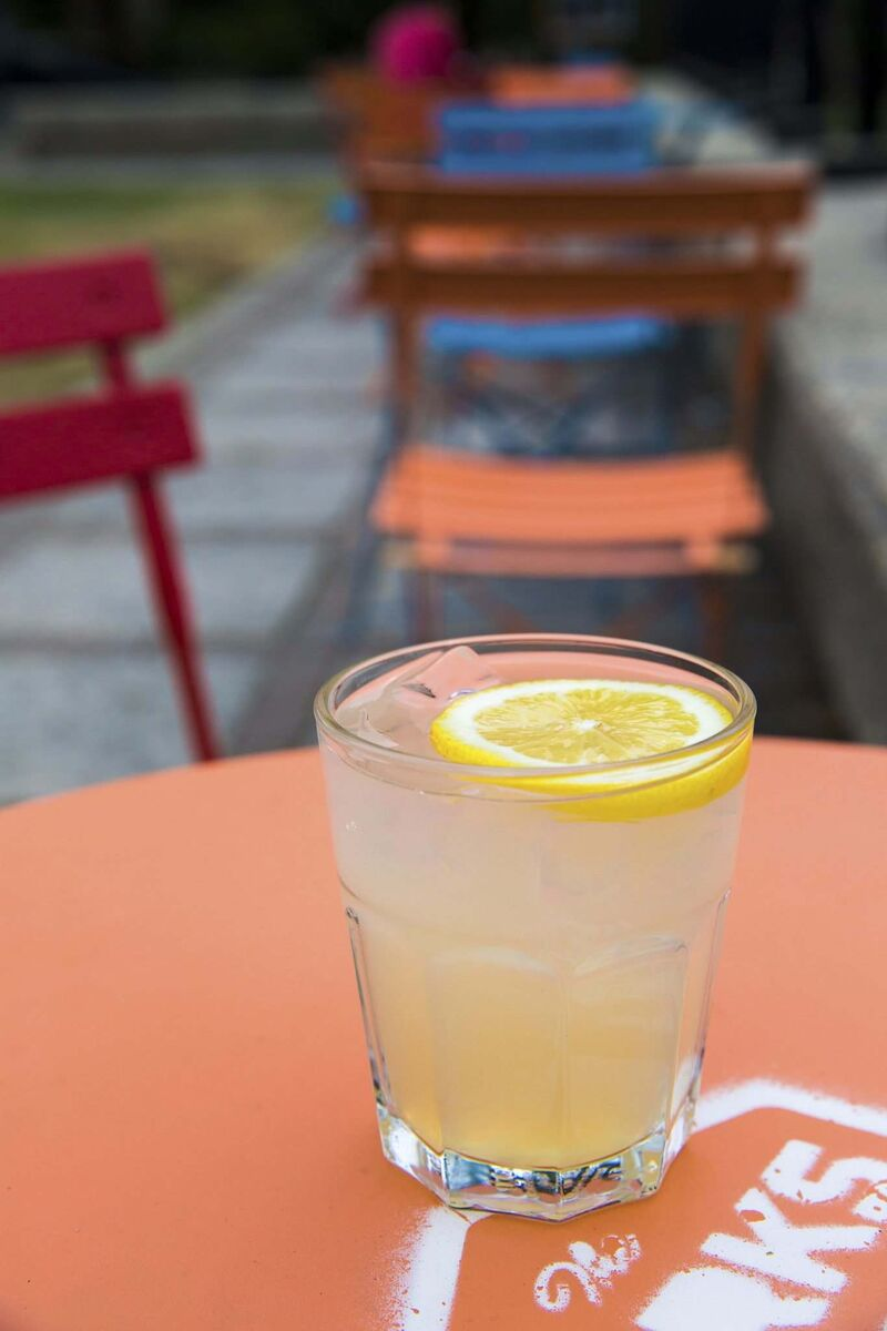 Summer creations, such as the Lavender Fizz, deliver drinks that are as fun as they are fresh.  (Mikaela MacKenzie / Winnipeg Free Press)