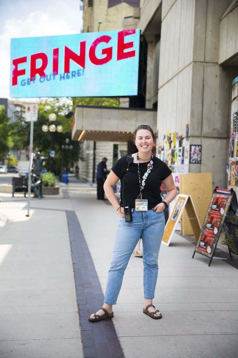 Tori Popp, interim manager of the Winnipeg Fringe Theatre Festival, doesn't have a lot of time to see shows but she's OK with that — she loves her job. (Mikaela MacKenzie / Winnipeg Free Press)
