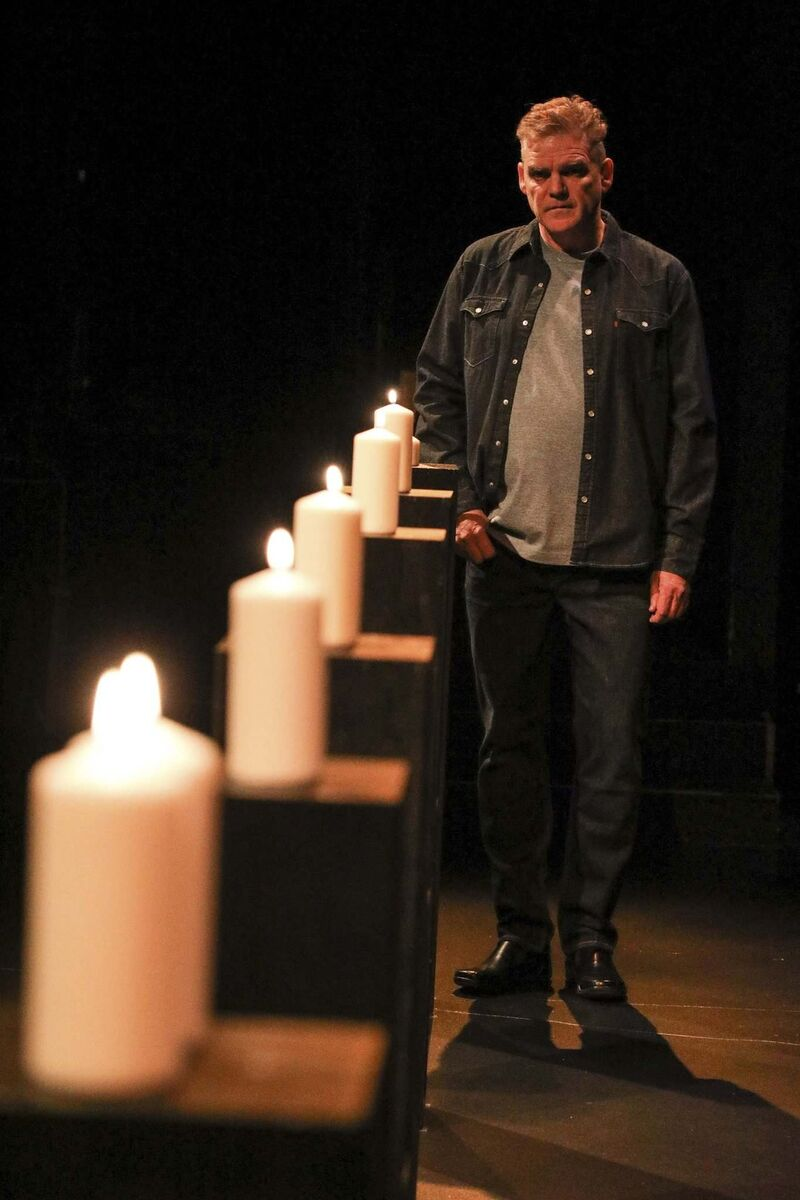 Shawn Wright takes on two roles in the PTE production of Ghost Light: himself and his mother. (Leif Norman photo)